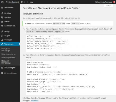 WP-Netzwerk aktivieren_4