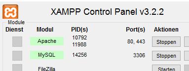 xampp-module-starten